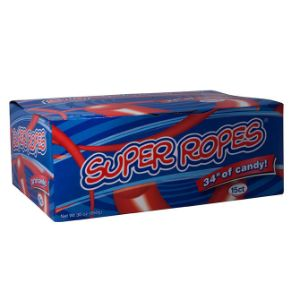 Super Ropes Rollin' Red Licorice Display Box (15 pcs)