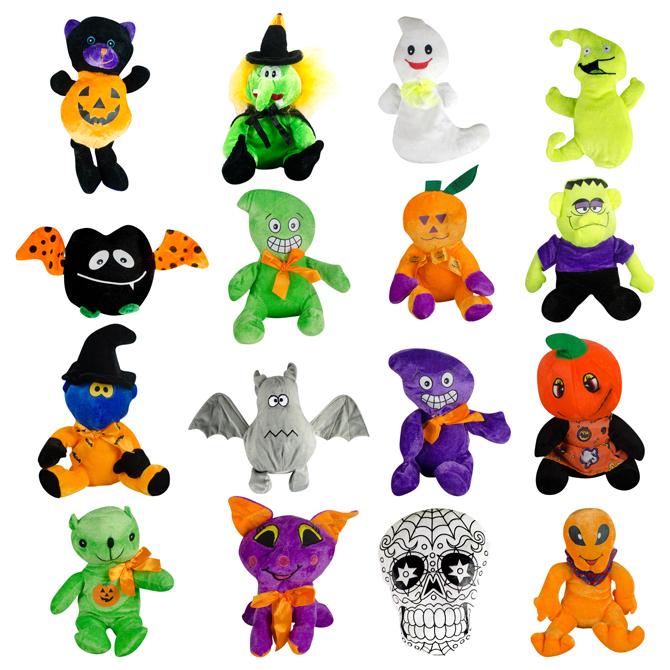 Small 100% Generic Halloween Plush Kit 6in-9in (144 pcs)