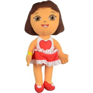 Dora in Heart Dress Plush 8''