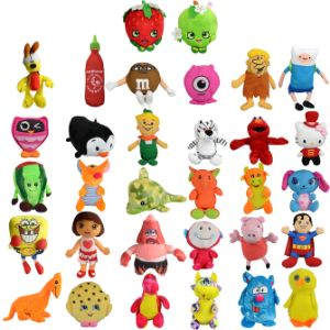 Small 50% Licensed Plush Kit 6.5'' (180 pcs)