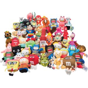 Small 100% Licensed Plush Kit 6.5'' (150 pcs)