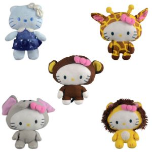 Hello Kitty Circus Animals Plush 6.5''
