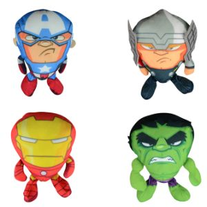 Marvel Wedge Heads Plush 6.5''
