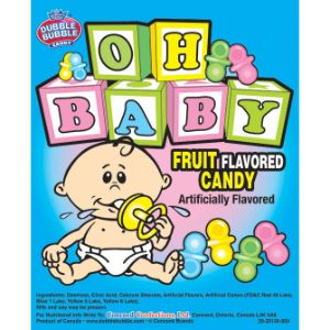 Oh Baby Uncoated Pacifier Candies - Case (13500 pcs)