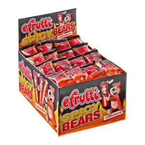 eFrutti Spicy Gummi Cinnamon Bears Display Box (80 pcs)