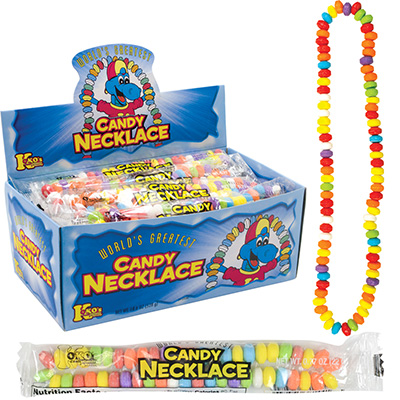 Candy Necklace 22 g Display Box (24 pcs)