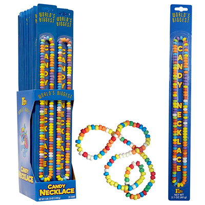 World's Biggest Candy Necklace Display Box (24 pcs)