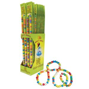 World's Biggest Sour Candy Necklace Display Box (24 pcs)