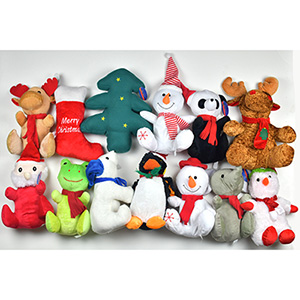 Jumbo 100% Generic Christmas Plush Kit 12''-15'' (50 pcs)