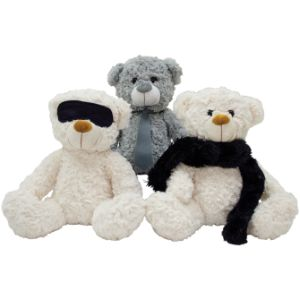Jumbo Gray Bears Plush Kit 11in (48 pcs)