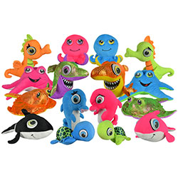Jumbo Sea Life Plush Kit 7.5''-14'' (48 pcs)