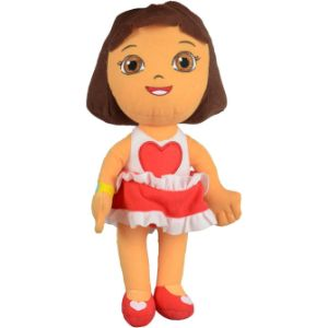 Dora in Heart Dress Plush 12''