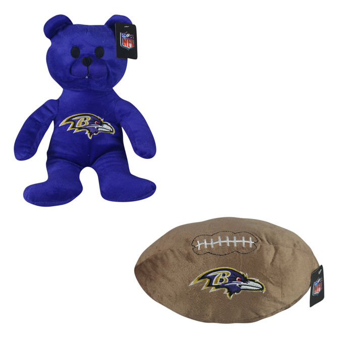 4c111bb7 Jumbo NFL Baltimore Ravens Plush Kit (48 pcs)