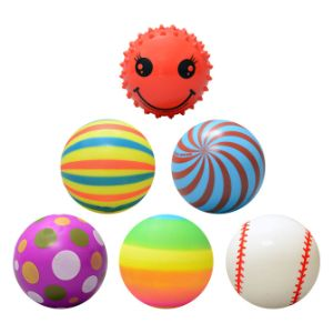 Inflated Assorted Vinyl Knobby Balls, 3'' - Series 1