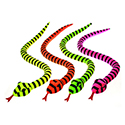 Neon Black Stripe Snake Plush 60''