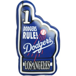 MLB Vinyl #1 Hand Dodgers Plush 9''