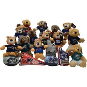 NFL East Regional Jumbo Plush Topper Kit (24 pcs)