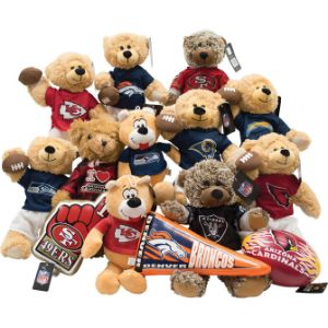 NFL West Regional Jumbo Plush Topper Kit 7''-11'' (24 pcs)