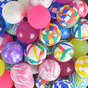 45mm Mixed Hi-Bounce Balls (50 pcs)