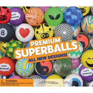 Premium 45mm Hi-Bounce Ball Mix Display Card