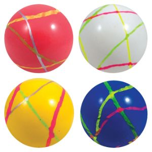 45mm Color Stripe Ball Hi-Bounce Balls (50 pcs)