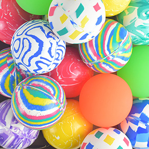 60mm Mixed Hi-Bounce Balls (25 pcs)