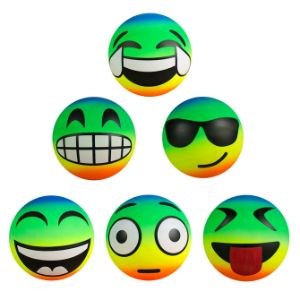 6'' Inflatable Rainbow Emoji Vinyl Balls (100 pcs)