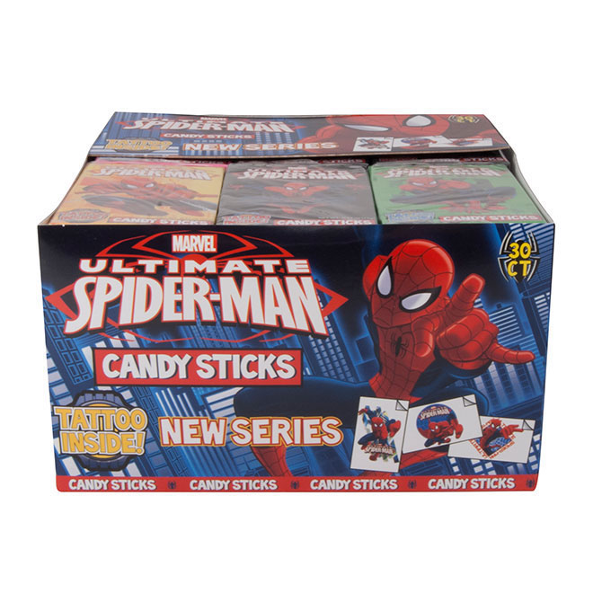 Spider Man Candy Sticks With Tattoos A Amp A Global Industries