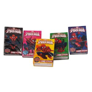 Marvel Spider-Man Candy Sticks with Tattoo - Case