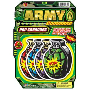 Army Poppers 4pk