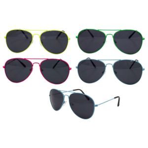 Colored Aviator Sunglasses (12 pcs)