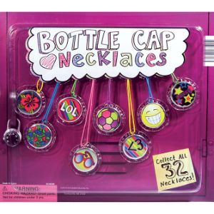 Bottle Cap Necklaces Blister Display