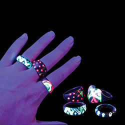 Bright Band Neon Rings in 2'' Capsules
