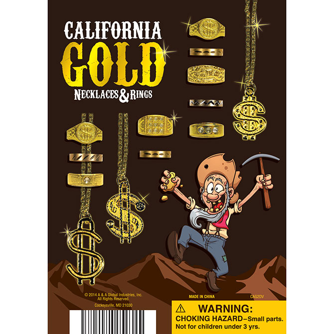 California Gold Necklaces Rings AA Global Industries