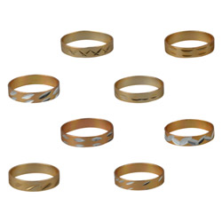 Gold-Toned Extruded Rings in Bulk Bag (100 pcs)