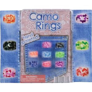 Camouflage Rings Blister Display
