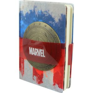 Captain America Metal Shield Notebook