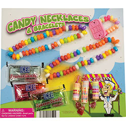 Candy and Candy Jewelry in 2'' Capsules