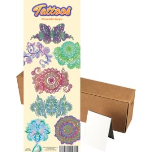 Henna Colors Tattoos in Folders (300 pcs)