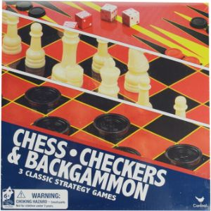3-in-1 Chess, Checker, Backgammon Game Set