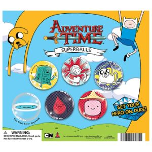 Adventure Time 45mm Hi-Bounce Ball Display Card