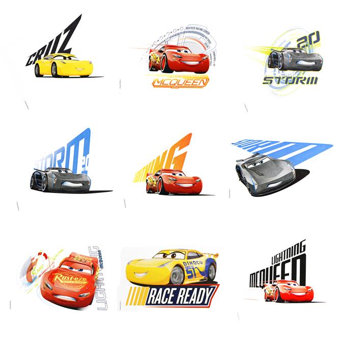 Disney cars 3 stickers in folders 300 pcs