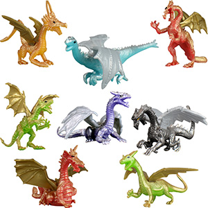Dragon Figurines in 2'' Capsules (250 pcs)