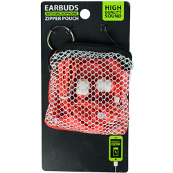 Earbuds in Zipper Pouch Asst