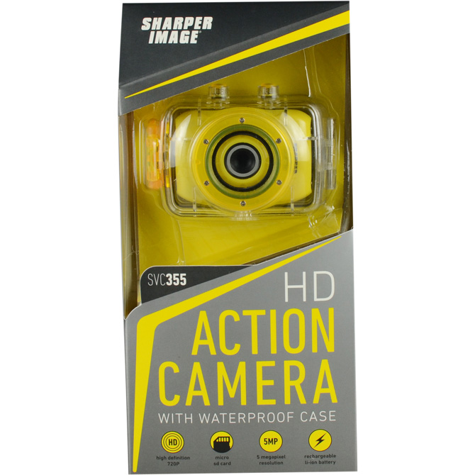 Sharper Image Hd Water Resistant Camera With Mounting Kit Aa