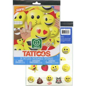 Emoji 25pc Tattoos