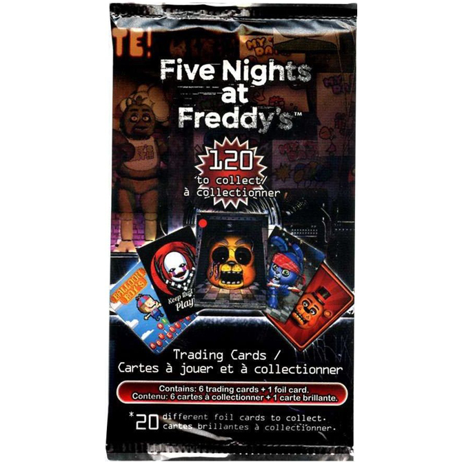 five nights at freddy s trading cards a a global industries