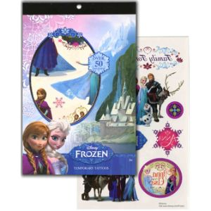 Disney Frozen Tattoo Book