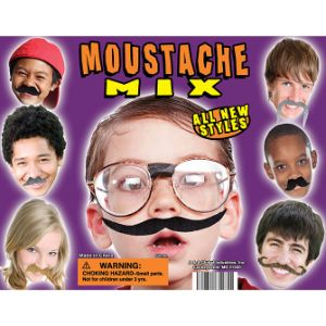 Moustache Mix Display Card