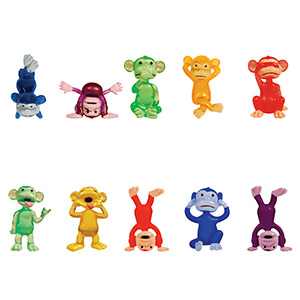Funny Monkey Figurines in 1.1'' Capsules (250 pcs)